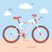 Fahrrad auf blauem Vektor