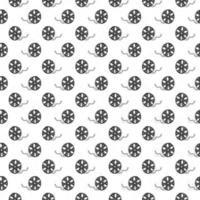 Nahtloses Muster der Filmband- und Filmrolle Vintage, handgezeichnete Skizze, Retro-Film- und Filmindustrie, Vektorillustration vektor
