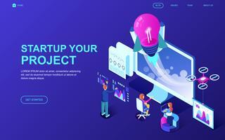 Starten Sie Ihr Project Web Banner vektor
