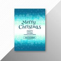 Fliegerschablonendesign der schönen Frohe Weihnachten des Festivals vektor