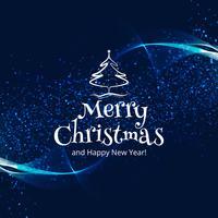 Bunter Kartenhintergrund der schönen Feier der frohen Weihnachten vektor