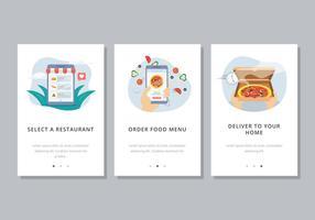 Online matbeställningsmall vektor