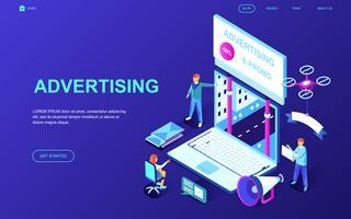 Werbung und Werbebanner vektor