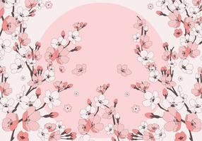 körsbär blommar vektor