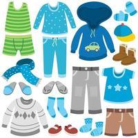 bunte Kleidung für kleine Kinder vektor