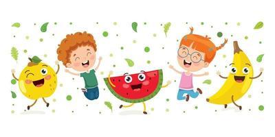 frisches Obst für eine gesunde Ernährung vektor