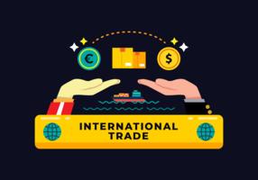 Internationales Geschäft Vektor