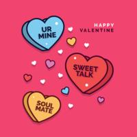 Valentine Candy Hearts-Vektor vektor