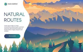 Bergreisen Vektor Zielseitenvorlage
