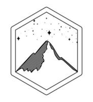 Bergsilhouette-Abzeichen vektor