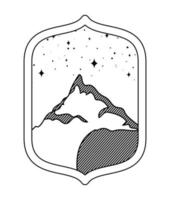 Bergsilhouette Abzeichen vektor