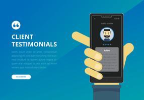 Testimonial Design UI Preview. Consument Testimoni, Kundenbewertung. vektor