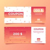 Coupon Vorlage Vektor