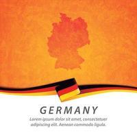 Deutschlandflagge mit Karte vektor