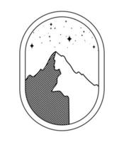 Berg-Silhouette-Emblem vektor