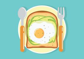 Avokado Toast Vektor Illustration