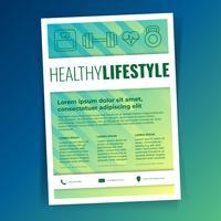 Gesundheits-Lebensstil-Geschäfts-Flieger-Schablonensatz vektor