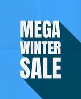 Mega-Winterschlussverkauf vektor