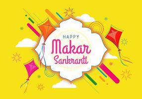 makar sankranti illustration