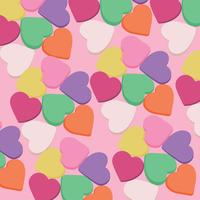Godis hjärtan bakgrund vektor