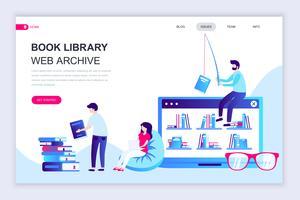Boka Bibliotek Webbanner vektor
