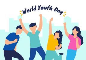 världens ungdomsdag vektor illustration