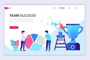 Team framgång webb banner vektor