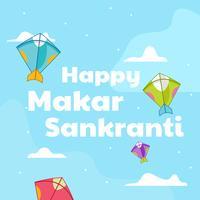Glücklicher Makar Sankranti vektor