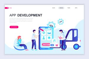 app utveckling webb banner vektor