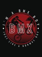 Ich bin BMX Boy T-Shirt Design vektor