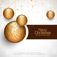 Abstrakt Merry Christmas stilig dekorativ bakgrund vektor