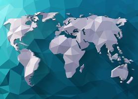 Världskarta i polygonal stil