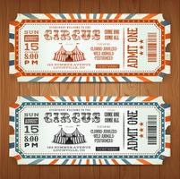 Vintage Retro Circus Biljetter vektor