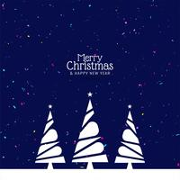 Abstrakt Merry Christmas färgglada festival bakgrund