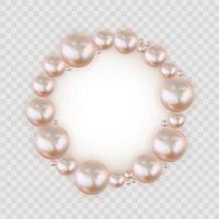 glänzender abstrakter Hintergrund mit realistischen Perlen und weißer Papiervorlage vektor