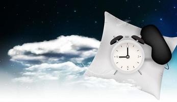 gute nacht abstrakter hintergrund mit lustiger schlafmaske vektor
