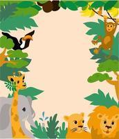 Cartoon-Stil Tierkind-Plakatvorlage vektor