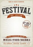 musikfestival vintageaffisch vektor
