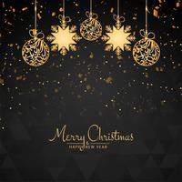 Abstrakt Glad jul vacker dekorativ bakgrund vektor