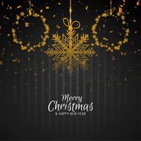 Abstrakt Merry Christmas stilig bakgrund vektor