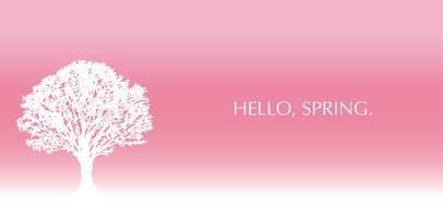 Heller rosa Hintergrund mit einem Baumschattenbild- und -textraum. vektor