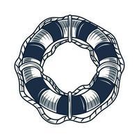 Rettungsring nautisch maritim vektor