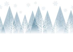 Nahtloser Winterwaldhintergrund mit Textraum, Vektorillustration.