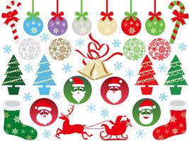 Satz sortierte Weihnachtsgraphikelemente.