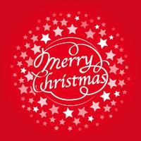Textdesign der frohen Weihnachten, Vektorillustration. vektor