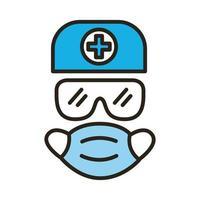 Symbol für medizinische Schutzausrüstung und Füllstilsymbol vektor
