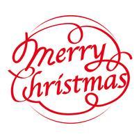 Logoauslegung der frohen Weihnachten, Vektorillustration. vektor