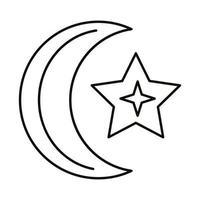 Mond und Sterne Sternzeichen Symbol Linienstil-Symbol vektor