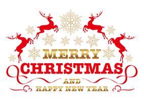 Weihnachtsemblem, Abzeichen oder Etikett. vektor