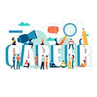 Word karriär med en grupp människor vektor